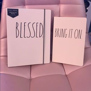 Rae Dunn Blessed planner & Bring It On notebook